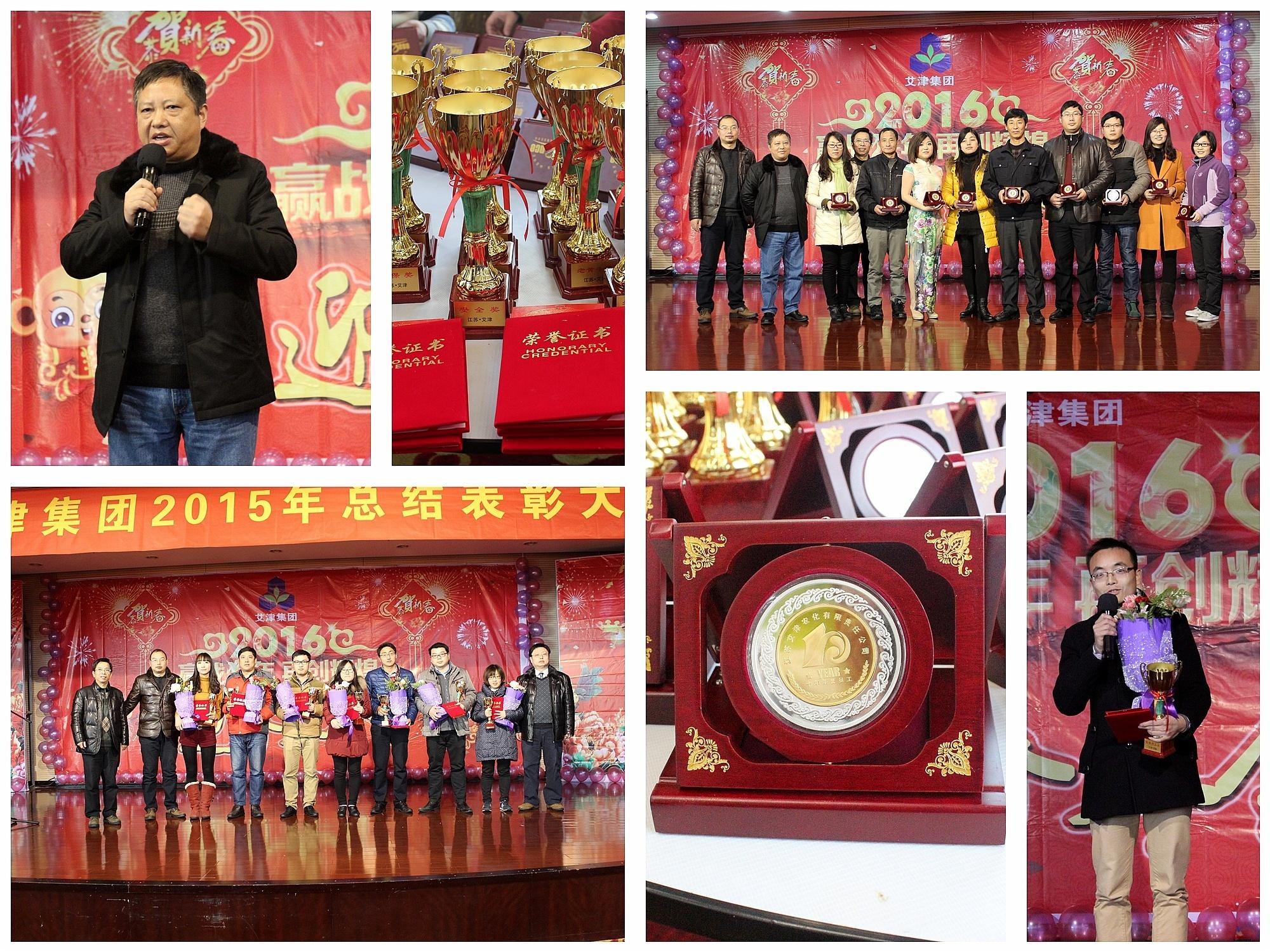 江苏艾津集团2015年终表彰大会